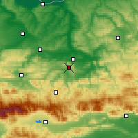 Nearby Forecast Locations - Veliko Tarnovo - Map