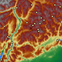 Nearby Forecast Locations - Predazzo - Map