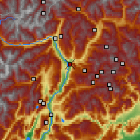Nearby Forecast Locations - Bolzano - Map