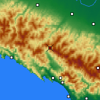 Nearby Forecast Locations - Passo D.Cisa - Map