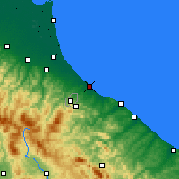 Nearby Forecast Locations - Rimini - Map