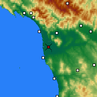 Nearby Forecast Locations - Pisa - Map