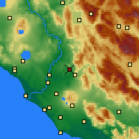 Nearby Forecast Locations - Guidonia Montecelio - Map