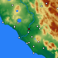 Nearby Forecast Locations - Rome/Urbe - Map