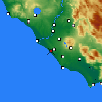 Nearby Forecast Locations - Pratica di Mare - Map