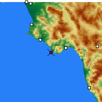 Nearby Forecast Locations - Cape Palinuro - Map