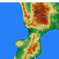 Nearby Forecast Locations - Lamezia Terme - Map