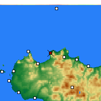 Nearby Forecast Locations - Terrasini - Map