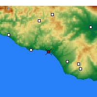 Nearby Forecast Locations - Gela - Map