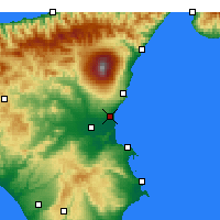 Nearby Forecast Locations - Catania - Map