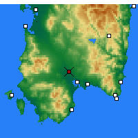Nearby Forecast Locations - Decimomannu - Map