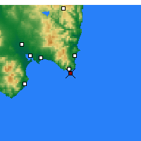 Nearby Forecast Locations - Capo Carbonara - Map
