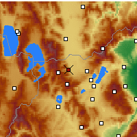 Nearby Forecast Locations - Florina - Map