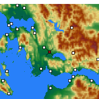 Nearby Forecast Locations - Agrinio - Map