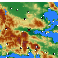 Nearby Forecast Locations - Lamia - Map