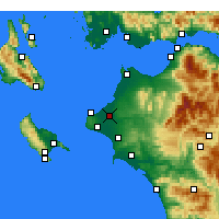 Nearby Forecast Locations - Andravida - Map