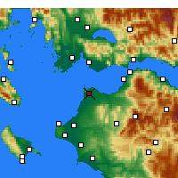 Nearby Forecast Locations - Araxos - Map