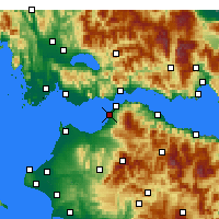 Nearby Forecast Locations - Patras - Map