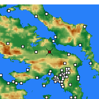 Nearby Forecast Locations - Tanagra - Map