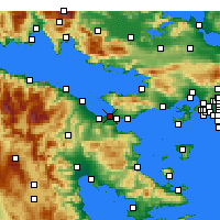 Nearby Forecast Locations - Corinth - Map