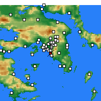 Nearby Forecast Locations - Athens - Map