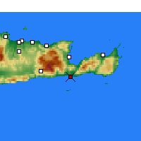 Nearby Forecast Locations - Ierapetra - Map