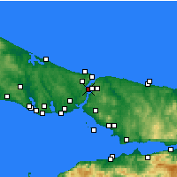 Nearby Forecast Locations - Sarıyer - Map