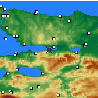 Nearby Forecast Locations - Gölcük - Map
