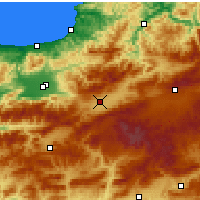 Nearby Forecast Locations - Bolu - Map