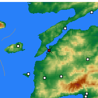 Nearby Forecast Locations - Çanakkale - Map