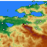 Nearby Forecast Locations - Bursa - Map