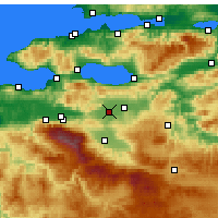 Nearby Forecast Locations - Yenişehir - Map