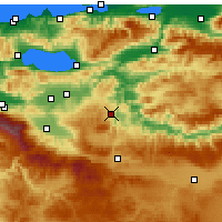 Nearby Forecast Locations - Bilecik - Map