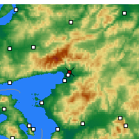 Nearby Forecast Locations - Edremit - Map