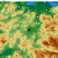 Nearby Forecast Locations - Balıkesir - Map