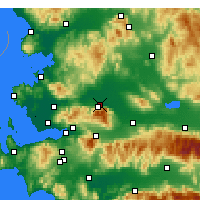 Nearby Forecast Locations - Manisa - Map