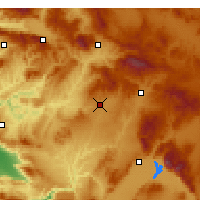Nearby Forecast Locations - Uşak - Map
