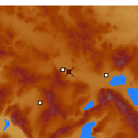 Nearby Forecast Locations - Afyonkarahisar - Map