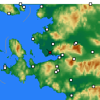 Nearby Forecast Locations - Izmir / Cigli - Map