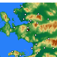 Nearby Forecast Locations - Gaziemir - Map