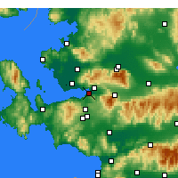 Nearby Forecast Locations - Güzelbahçe - Map