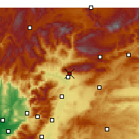 Nearby Forecast Locations - Kahramanmaraş - Map