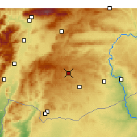 Nearby Forecast Locations - Gaziantep - Map