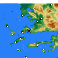 Nearby Forecast Locations - Bodrum - Map