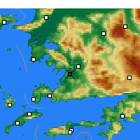 Nearby Forecast Locations - Milas- Bodrum Airport - Map