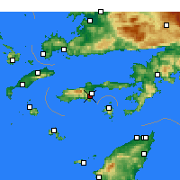 Nearby Forecast Locations - Datça - Map