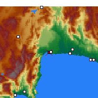 Nearby Forecast Locations - Muratpaşa - Map