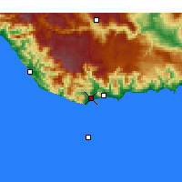 Nearby Forecast Locations - Anamur - Map