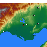Nearby Forecast Locations - Adana - Map