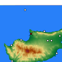 Nearby Forecast Locations - Akdeniz - Map